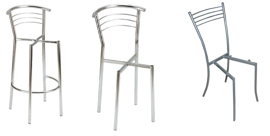 Металлические каркасы для кухонных и барных стульев